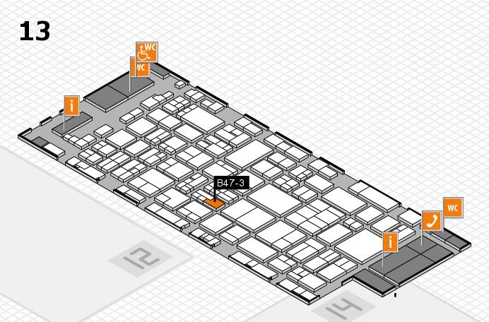 glasstec 2016 Hallenplan (Halle 13): Stand B47-3
