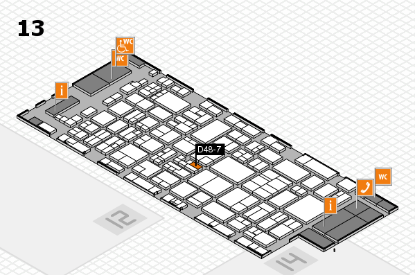 glasstec 2016 hall map (Hall 13): stand D48-7