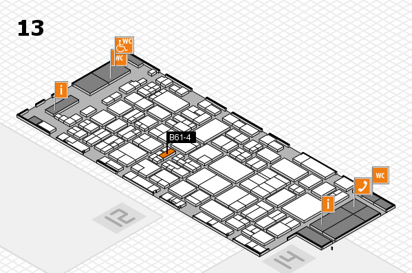 glasstec 2016 hall map (Hall 13): stand B61-4