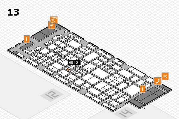 glasstec 2016 hall map (Hall 13): stand B61-2