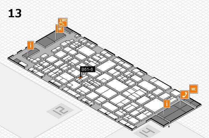 glasstec 2016 Hallenplan (Halle 13): Stand B61-6