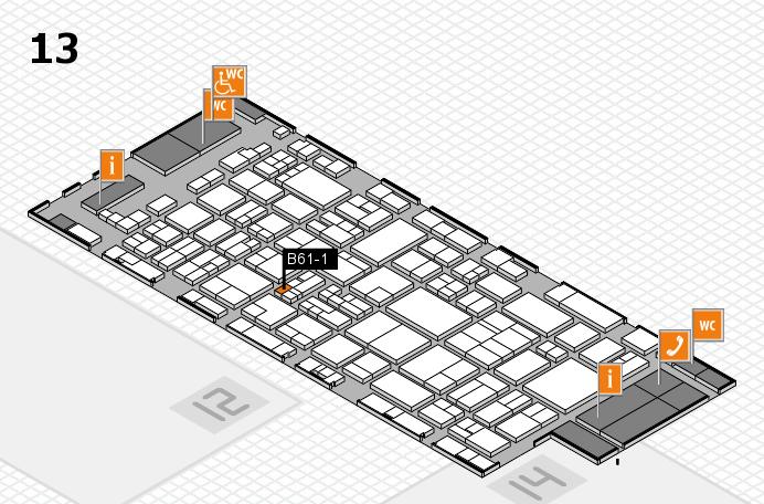 glasstec 2016 Hallenplan (Halle 13): Stand B61-1