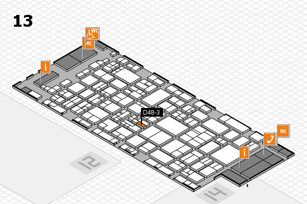glasstec 2016 Hallenplan (Halle 13): Stand D48-3