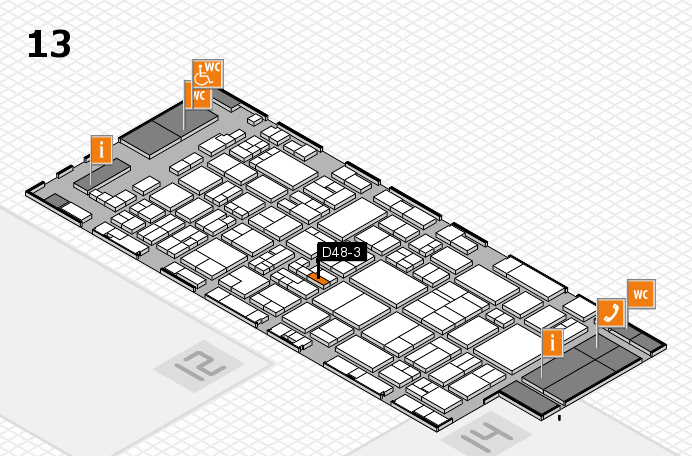 glasstec 2016 hall map (Hall 13): stand D48-3