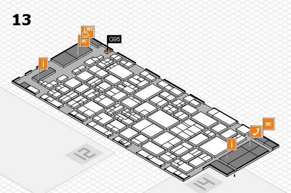 glasstec 2016 hall map (Hall 13): stand G95