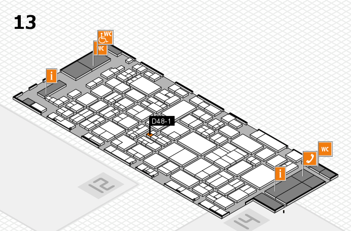 glasstec 2016 hall map (Hall 13): stand D48-1
