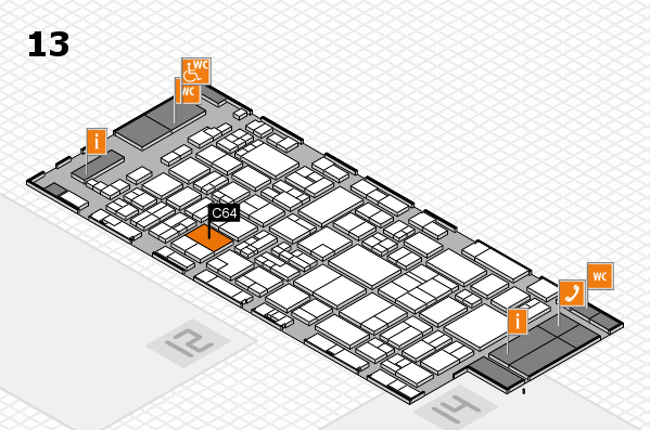 glasstec 2016 hall map (Hall 13): stand C64