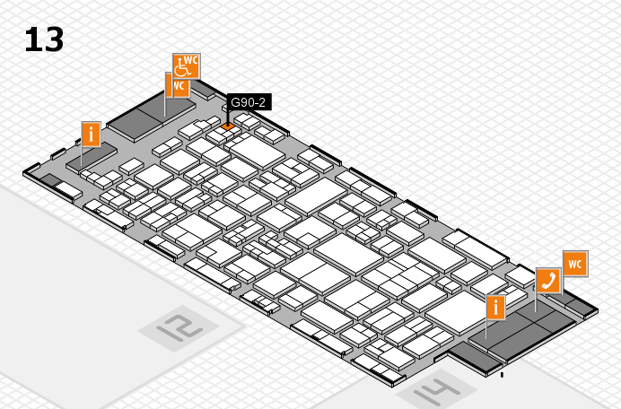 glasstec 2016 hall map (Hall 13): stand G90-2
