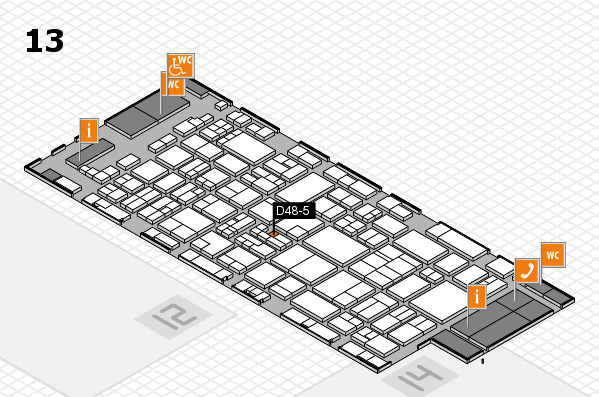 glasstec 2016 hall map (Hall 13): stand D48-5