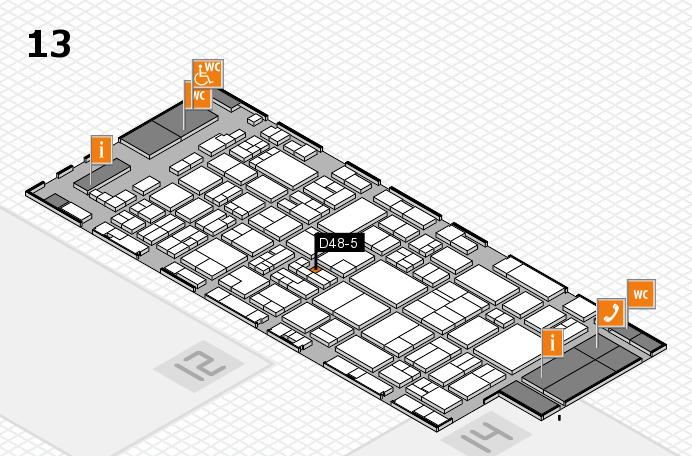 glasstec 2016 hall map (Hall 13): stand D48-5