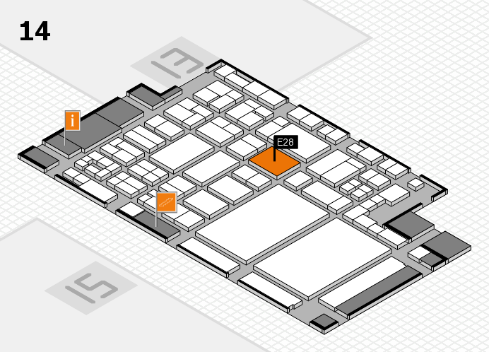 glasstec 2016 hall map (Hall 14): stand E28