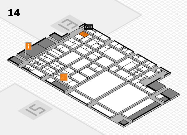 glasstec 2016 hall map (Hall 14): stand G03
