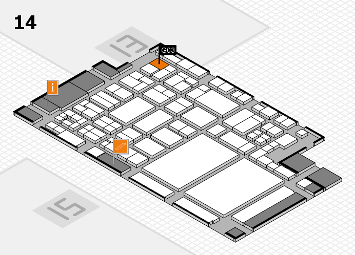 glasstec 2016 hall map (Hall 14): stand G03