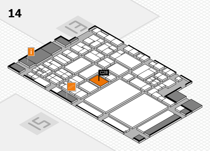 glasstec 2016 hall map (Hall 14): stand C28