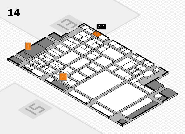 glasstec 2016 Hallenplan (Halle 14): Stand G10