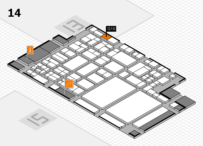 glasstec 2016 hall map (Hall 14): stand G10