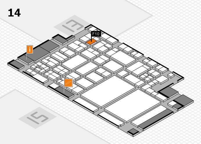 glasstec 2016 hall map (Hall 14): stand F10