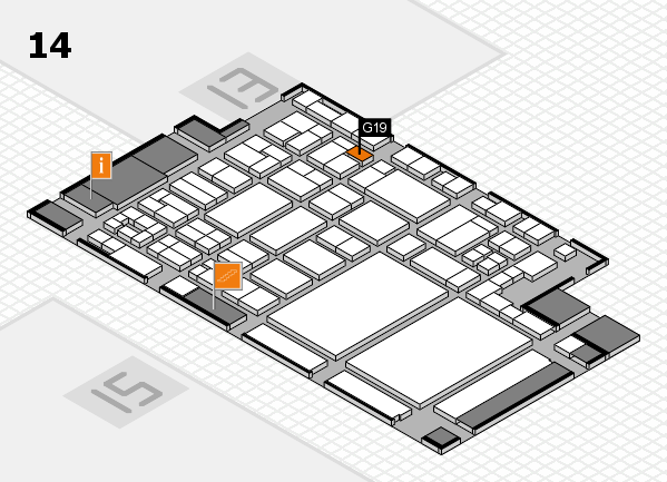 glasstec 2016 hall map (Hall 14): stand G19