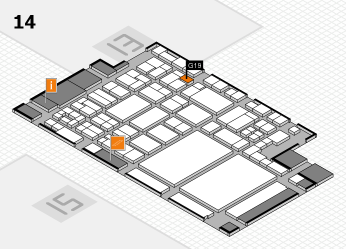 glasstec 2016 Hallenplan (Halle 14): Stand G19