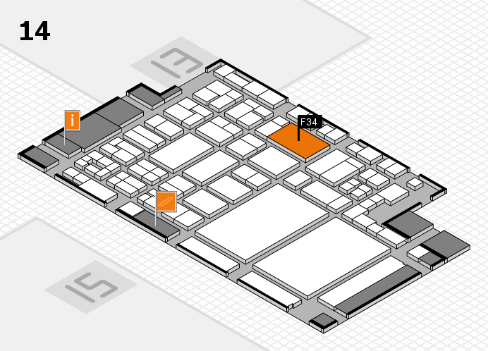 glasstec 2016 hall map (Hall 14): stand F34