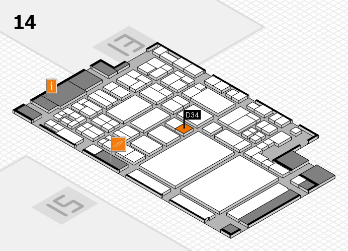 glasstec 2016 hall map (Hall 14): stand D34