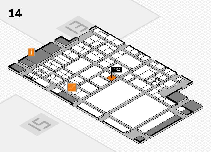 glasstec 2016 hall map (Hall 14): stand D34
