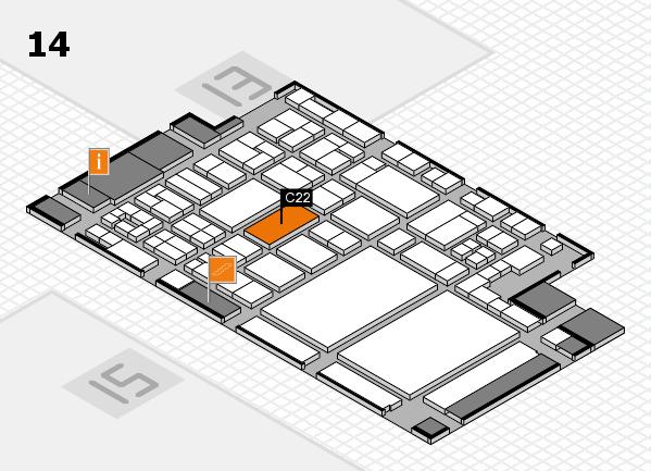 glasstec 2016 Hallenplan (Halle 14): Stand C22