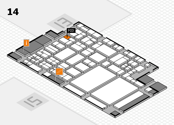 glasstec 2016 hall map (Hall 14): stand F03
