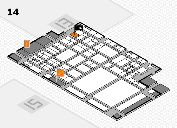 glasstec 2016 hall map (Hall 14): stand F04