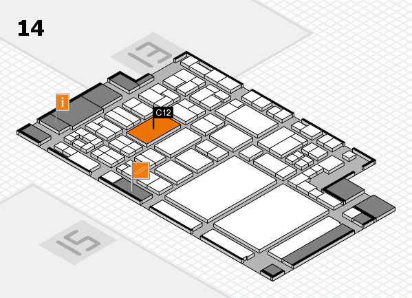 glasstec 2016 hall map (Hall 14): stand C12