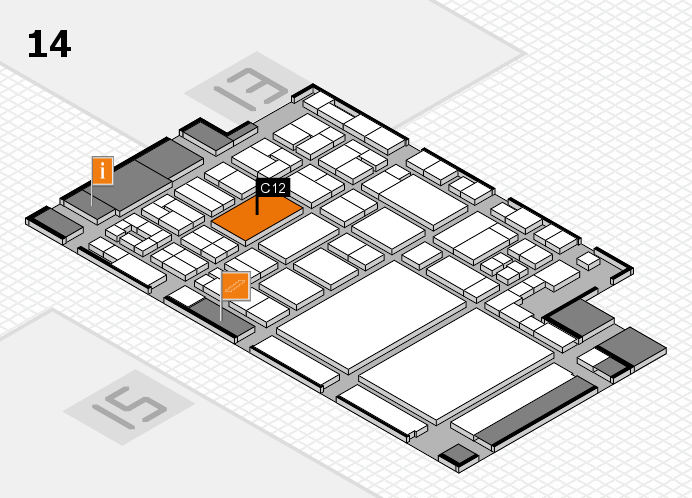 glasstec 2016 hall map (Hall 14): stand C12