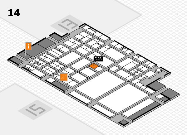 glasstec 2016 hall map (Hall 14): stand D28