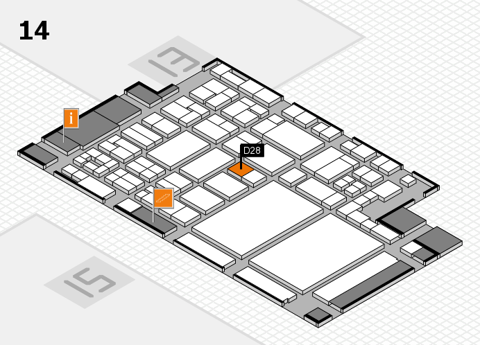 glasstec 2016 hall map (Hall 14): stand D28