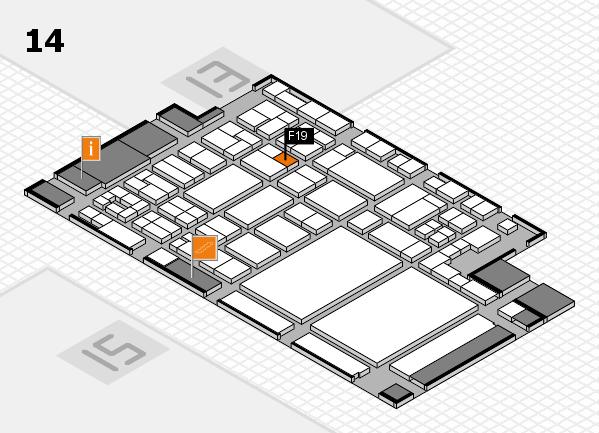 glasstec 2016 hall map (Hall 14): stand F19