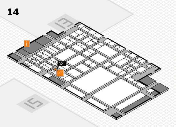 glasstec 2016 Hallenplan (Halle 14): Stand B21
