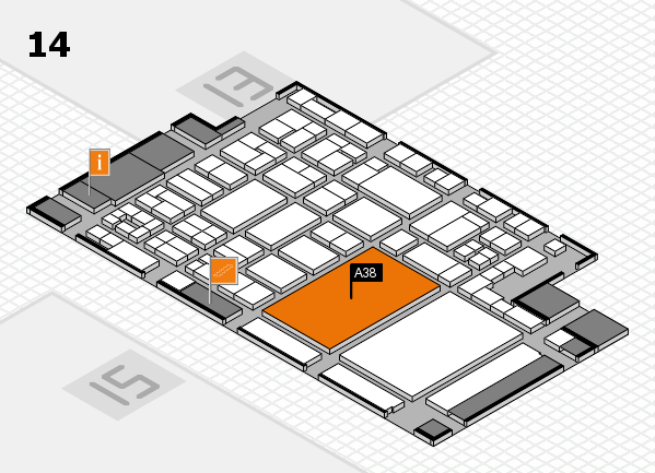 glasstec 2016 hall map (Hall 14): stand A38