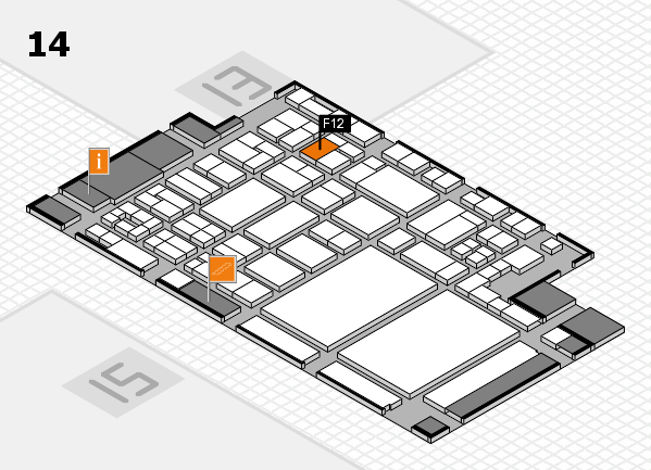 glasstec 2016 Hallenplan (Halle 14): Stand F12