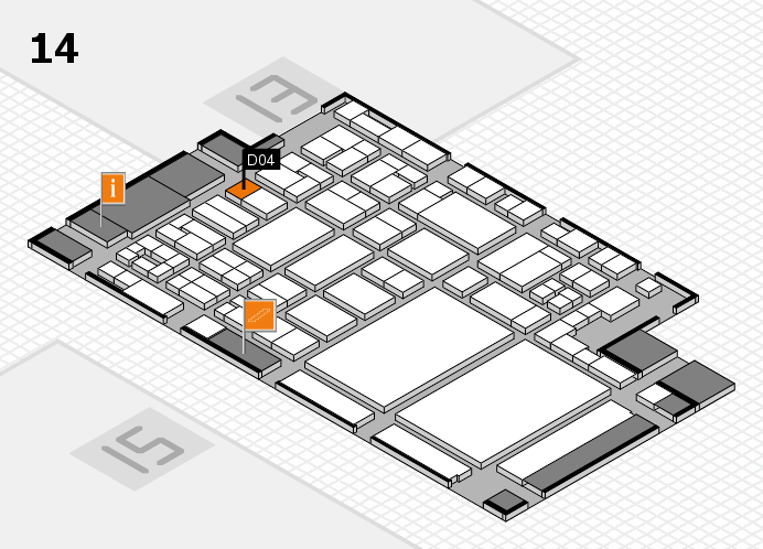 glasstec 2016 hall map (Hall 14): stand D04