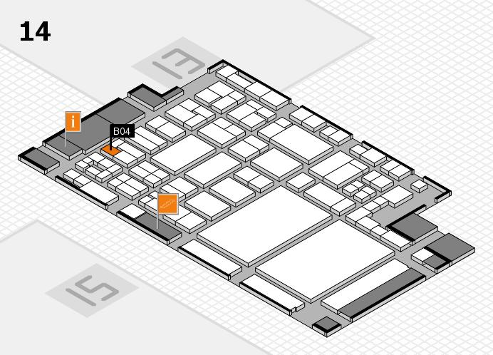 glasstec 2016 hall map (Hall 14): stand B04