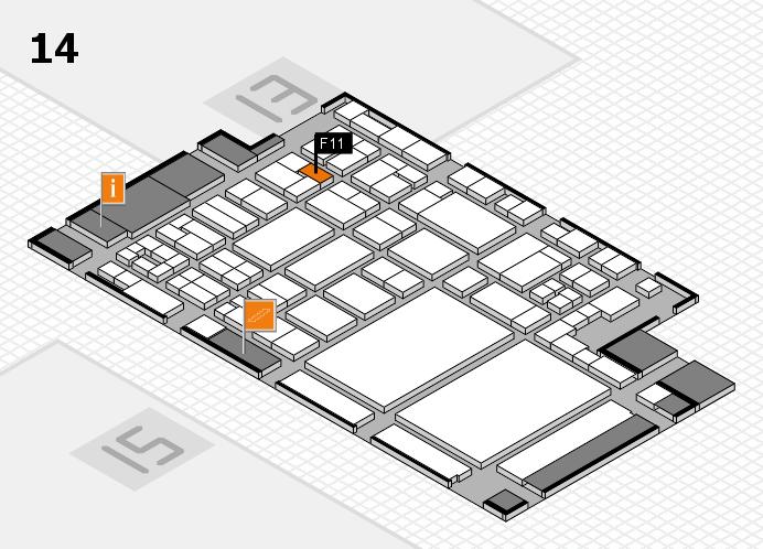 glasstec 2016 Hallenplan (Halle 14): Stand F11