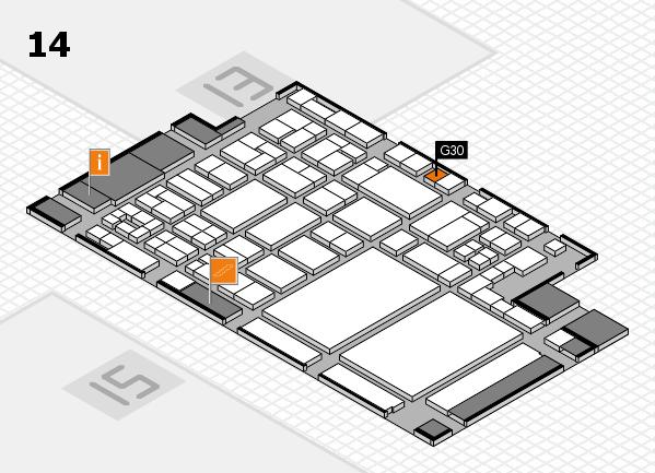glasstec 2016 hall map (Hall 14): stand G30