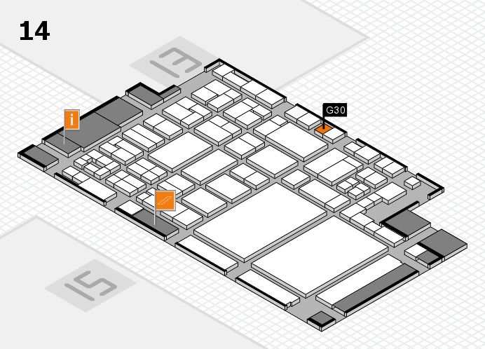 glasstec 2016 hall map (Hall 14): stand G30