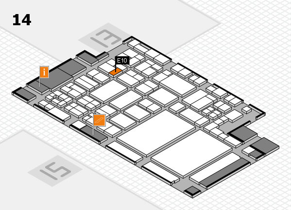 glasstec 2016 hall map (Hall 14): stand E10