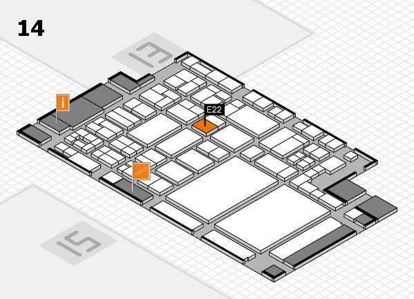 glasstec 2016 Hallenplan (Halle 14): Stand E22