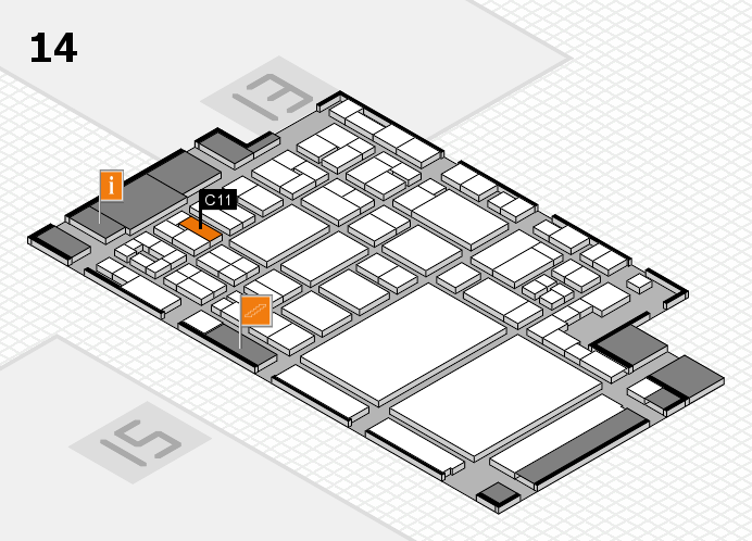 glasstec 2016 hall map (Hall 14): stand C11