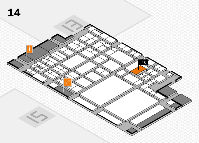 glasstec 2016 hall map (Hall 14): stand F46