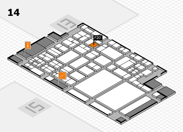 glasstec 2016 hall map (Hall 14): stand F20