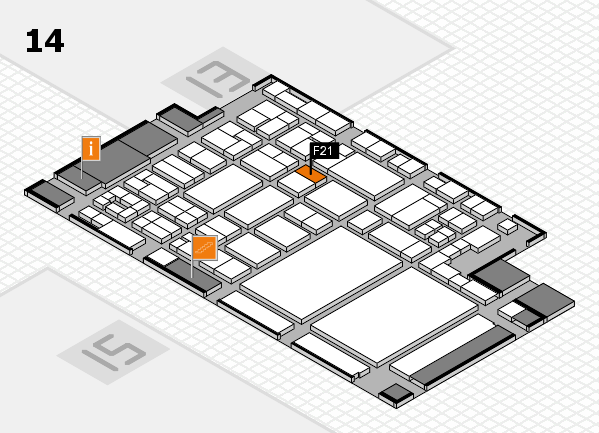 glasstec 2016 hall map (Hall 14): stand F21