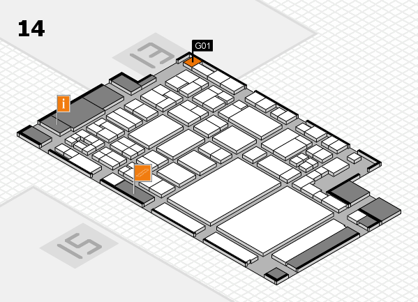glasstec 2016 hall map (Hall 14): stand G01