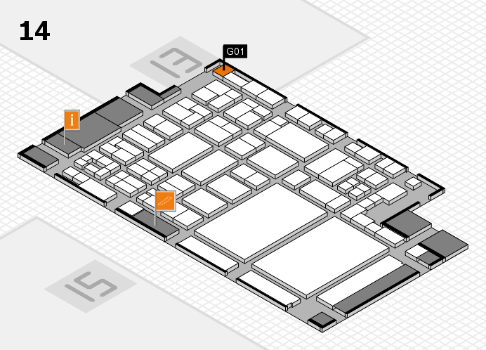 glasstec 2016 Hallenplan (Halle 14): Stand G01